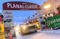 03.01.2019, Schladming, AUT, Planai-Classic 2019, Start zum Dachstein Prolog, im Bild Gebhard Fellner und Anna Sophia Fellner (AUT), Fiat 2300s Coupe Abarth, Bj. 1963 // during the Planai-Classic 2019 in Schladming, Austria on 2019/01/03. EXPA Pictures © 2019, PhotoCredit: EXPA / Martin Huber
