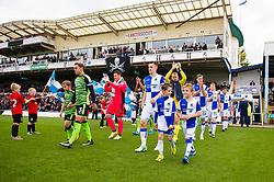 Mascot walk out - Mandatory by-line: Dougie Allward/JMP - 30/09/2017 - FOOTBALL - Memorial Stadium - Bristol, England - Bristol Rovers v Plymouth Argyle - Sky Bet League One