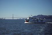 Bay Ferry, Golden Gate Bridge, San Francisco Bay, San Francisco, California