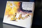 Offici&euml;le opening van de tentoonstelling 'Was getekend, Rien Poortvliet' op Paleis Soestdijk.Paleis Soestdijk presenteert een unieke collectie kerstkaarten die Rien Poortvliet maakte voor koningin Juliana en prins Bernhard. <br /> <br /> Op de foto:  unieke collectie kerstkaarten