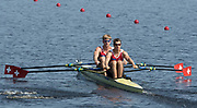 Sarasota. Florida USA. SUI M2X. Bow. Barnabe<br /> DELARZE and Roman<br /> ROEOESLI, move away from the start pontoon,  World Rowing Championships, Nathan Benderson Park<br /> <br /> Monday  25.09.17   <br /> <br /> [Mandatory Credit. Peter SPURRIER/Intersport Images].<br /> <br /> <br /> NIKON CORPORATION -  NIKON D500  lens  VR 500mm f/4G IF-ED mm. 200 ISO 1/500/sec. f 8