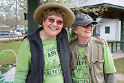 Adrian Juttner and Barbara Jackson at Keep Abita Beautiful cleanup day; March 10, 2018 in Abita Springs Park; photo ©2018, George H. Long