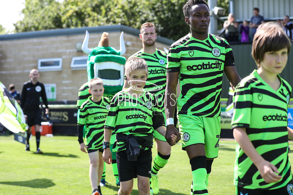 FGR Ambassadors during the EFL Sky Bet League 2 match between Forest Green Rovers and Grimsby Town FC at the New Lawn, Forest Green, United Kingdom on 17 August 2019.