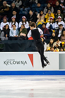 KELOWNA, BC - OCTOBER 25: Russian figure skater, Andrei Lazukin competes in the men's short program at Skate Canada International held at Prospera Place on October 25, 2019 in Kelowna, Canada. (Photo by Marissa Baecker/Shoot the Breeze)