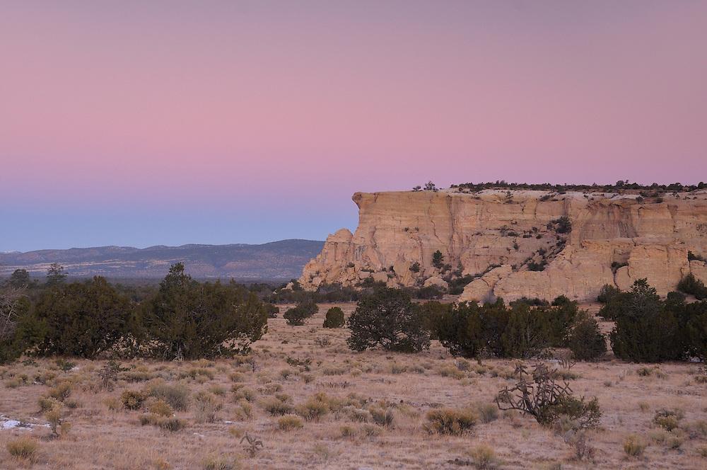 morning at El Malpais National Monument,  near Grants, New Mexico, USA
