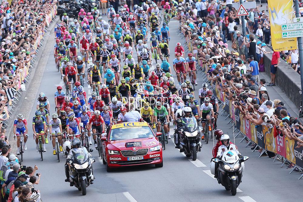 Illustration start, during the 105th Tour de France 2018, Stage 6, Brest - Mur de Bretagne Guerledan (181km) in France on July 12th, 2018 - Photo George Deswijzen / Proshots / ProSportsImages / DPPI