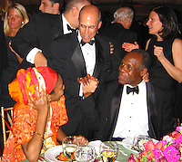 **EXCLUSIVE**.Jeffrey Katzenberg with Danny Glover & his daughter..American Museum of The Moving Image Salutes Mel Gibson..Waldorf Astoria Hotel..New York, NY, USA..March 07, 2002..Photo By Celebrityvibe.com.To license this image please call (212) 410 5354; or Email: celebrityvibe@gmail.com ;.website: www.celebrityvibe.com.