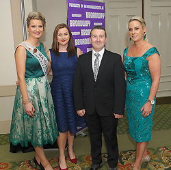 Rachel Gibbons, Angela McHugh, Kenneth Kelly Caroline Leneghan-McManamon at the Burrischoole does Broadway event on saturday night last. <br /> A night of fantasic costumes, perfectly rehearsed choreography and great entertainment as  Burrischoole GAA did Broadway,<br /> The event in aid of the GAA club was attended by over 400 punters at Knockranny House Hotel on saturday night last.<br /> Pic Conor McKeown