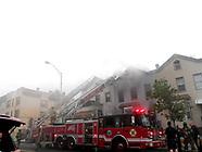 Fire in Jersey City NJ Westside Ave. Heavy Smoke