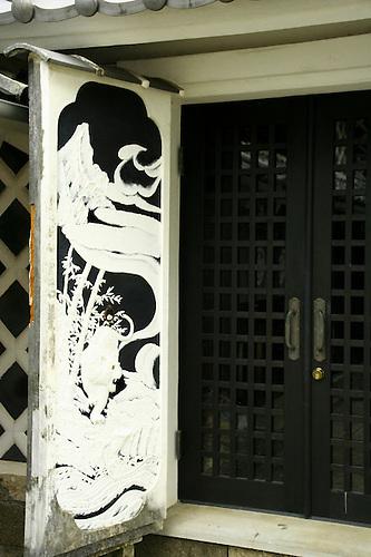 Matsuzaki Edo Period Doors A striking feature of Matsuzaki is its namako-kabe walls. & Namako Kabe Walls at Matsuzaki Izu | John Lander Photography