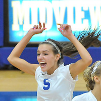 9.11.2012 Lakewood at Midview Varsity Volleyball