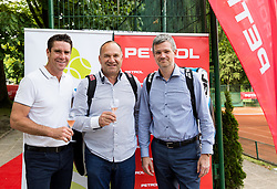 Gregor Krusic, ... and Tomaz Berlocnik at Petrol VIP tournament 2018, on May 24, 2018 in Sports park Tivoli, Ljubljana, Slovenia. Photo by Vid Ponikvar / Sportida