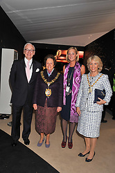 Left to right, LORD CHADLINGTON, the Lord Mayor of Hammersmith & Fulham COUNCILLOR FRANCES STAINTON, SARAH PERCY-DAVIS Chief Executive of LAPADA and The Lord Mayor of Westminster – COUNCILLOR SUSIE BURBRIDGE at a preview evening of the annual London LAPADA (The Association of Art & Antiques Dealers) antiques Fair held in Berkeley Square, London on 20th September 2011.