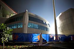 Sheikh Zayed Stadium ou Zayed Sports City Stadium, como também é conhecido, é um estádio nacional e multiuso que fica em Abu Dhabi, Emirados Árabes Unidos. Atualmente, é utilizado principalmente para jogos de futebol e competições de atletismo.. FOTO: Jefferson Bernardes/Preview.com