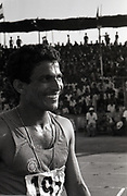 Anand Shetty, 9 times national champion in 100 & 200 meters sprint, photographed during the National Games held in Mangalore in the mid 80s