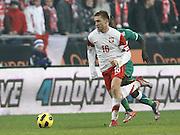 POZNAN 17/11/2010.FOOTBALL INTERNATIONAL FRIENDLY.POLAND v IVORY COAST.Jakub Blaszczykowski of Poland .Fot: Piotr Hawalej / WROFOTO