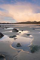 Sunset on Shi Shi Beach at low tide, Olympic National Park Washington
