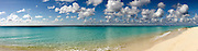 Turks and Caicos, Caribbean pastoral seashore panorama