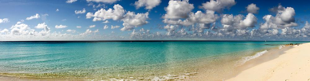 Turks and Caicos, Caribbean pastoral seashore panorama
