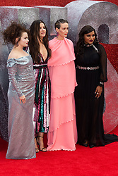 L-R Helena Bonham-Carter, Sandra Bullock, Sarah Paulson and Mindy Kaling at the London Premiere of Oceans 8 in Leicester Square. London, June 15 2018.