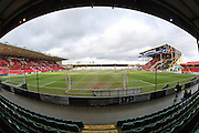 A genera view of Sincil Bank Stadium during the The FA Cup fourth round match between Lincoln City and Brighton and Hove Albion at Sincil Bank, Lincoln, United Kingdom on 28 January 2017.