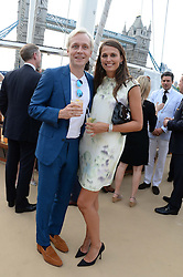 The Johnnie Walker Blue Label and David Gandy Drinks Reception aboard John Walker & Sons Voyager, St.Georges Stairs Tier, Butler's Wharf Pier, London, UK on 16th July 2013.<br /> Picture Shows:-Olivia Cole, Ben Hudson.