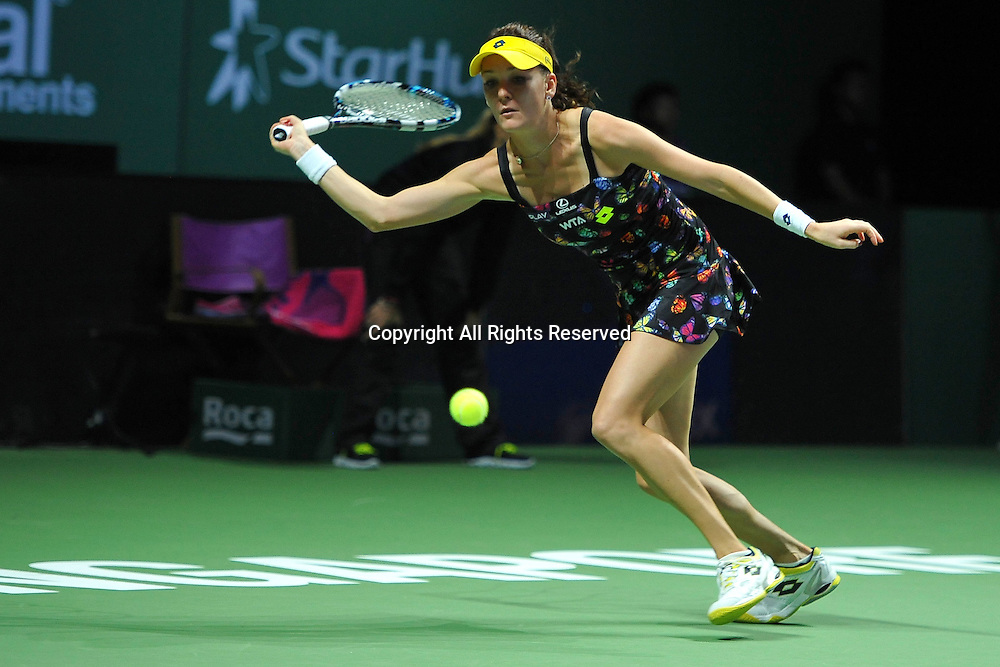 23.10.2014. Singapore. WTA Singapore Opens Tennis championships.   Agnieszka Radwanska (POL)