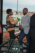 THELMA GOLDEN; THEASTER GATES, Absolut Art Bureau cocktails and dinner to celebrate the announcement of the 2013 Absolut Art Award shortlist. Bauer Hotel, San Marco. Venice. Venice Bienalle. 28 May 2013