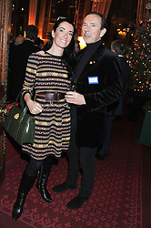 VICTORIA CHRISTIAN and her father CLIVE CHRISTIAN at a reception for the Stephen Lawrence Charitable Trust hosted by the Speaker of The House of Commons John Bercow and supported by law firm Freshfields Bruckhaus Deringer in The State Rooms, Speaker's House, the House of Commons, London on 19th December 2012.