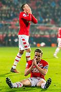 ALKMAAR - 25-01-2017, AZ - sc Heerenveen, AFAS Stadion, teleurstelling, AZ speler Ben Rienstra, AZ speler Wout Weghorst