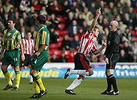 Photo: Scott Heavey<br />Southampton V West Bromwich Albion. 01/03/03.<br />James Beattie after scoring the opener during this premiership clash at St. Marys stadium, home of Southampton.
