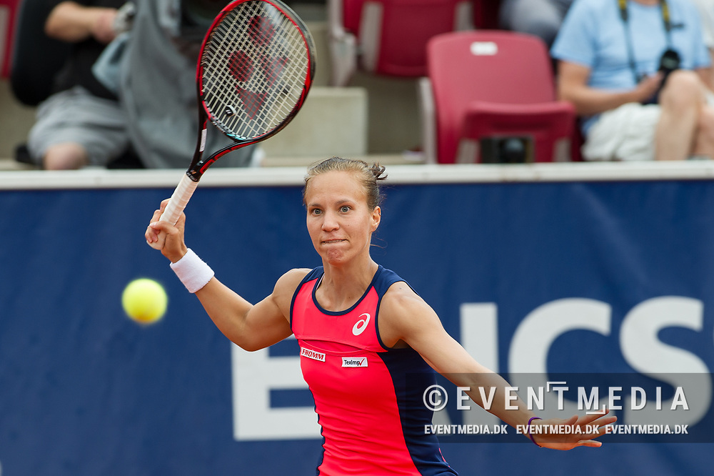 Viktorija Golubic (Switzerland) at the 2017 WTA Ericsson Open in Båstad, Sweden, July 27, 2017. Photo Credit: Katja Boll/EVENTMEDIA.