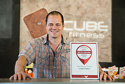 Portrait of Jernej Paulic, owner of Cube Fitness centre that was awarded with Best of Ljubljana Winner 2018, on April 24, 2018 in Cube Fitness, Ljubljana, Slovenia. Photo by Vid Ponikvar / Sportida