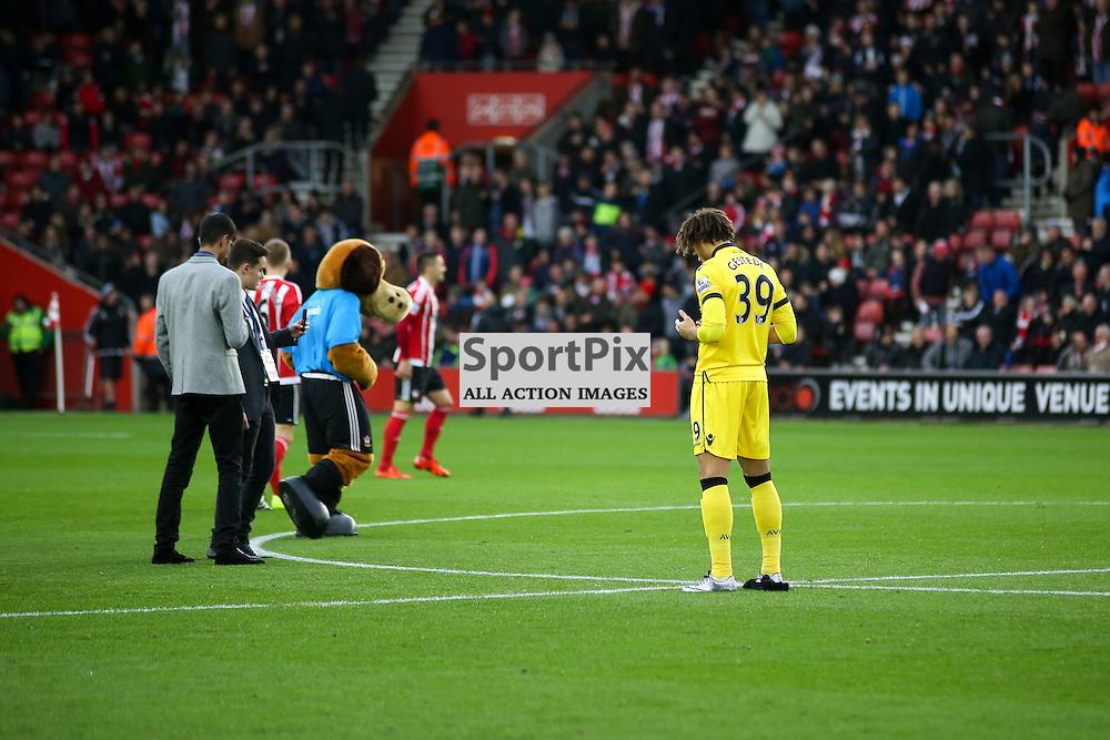 Rudy Gestede  During Southampton vs Aston Villa on Saturday the 5th December 2015.