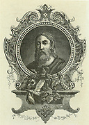 Galen (Claudius Galenus c130-201 AD) Greek physician who moved to Rome and became physician to three emperors.  Engraving published Paris, 1866.