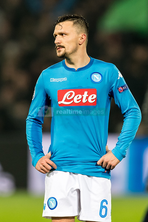 Mario Rui of SSC Napoli during the UEFA Champions League group F match between Feyenoord Rotterdam and SSC Napoli at the Kuip on December 06, 2017 in Rotterdam, The Netherlands