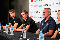 January 12, 2019 - Daryl Impey (2L) at TDU Official Race Press Conference, with Mike Turtur, TDU Race Director, Daryl Impey (Mitchelton-SCOTT) 2018 TDU Champion, Peter Sagan (BORA-hansgrohe), Richie Porte (Trek-Segafredo) & Caleb Ewan (Lotto-Soudal), Tour Down Under, Australia on the 12 of January 2019  (Credit Image: © Gary Francis/ZUMA Wire)