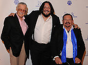 "(l-r) Marvel Comic legend Stan Lee, Singer from the tv show ""The Voice"" Nakia and Dr. Arnold Klein. Dr. Paul Nassif and Adrienne Maloof Nassif hosted a party in their home to honor Dr. Arnold Klein, and celebrate the opening of a new office for Dr. Klein's dermatology practice. Beverly Hills, CA 11-4-2011. Photo by John McCoy."