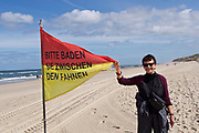 Sylt, Germany. The Beach at Wenningstedt-Braderup. Swim between the flags!
