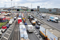 &copy; Licensed to London News Pictures.29/03/2018<br /> Dartford, UK.<br /> Dartford Crossing Kent.<br />  Maundy Thursday Easter traffic chaos has started early on the A282 (Anti clock-wise towards M25) near Queen Elizabeth II Bridge in Dartford,Kent. <br /> Photo credit: Grant Falvey/LNP