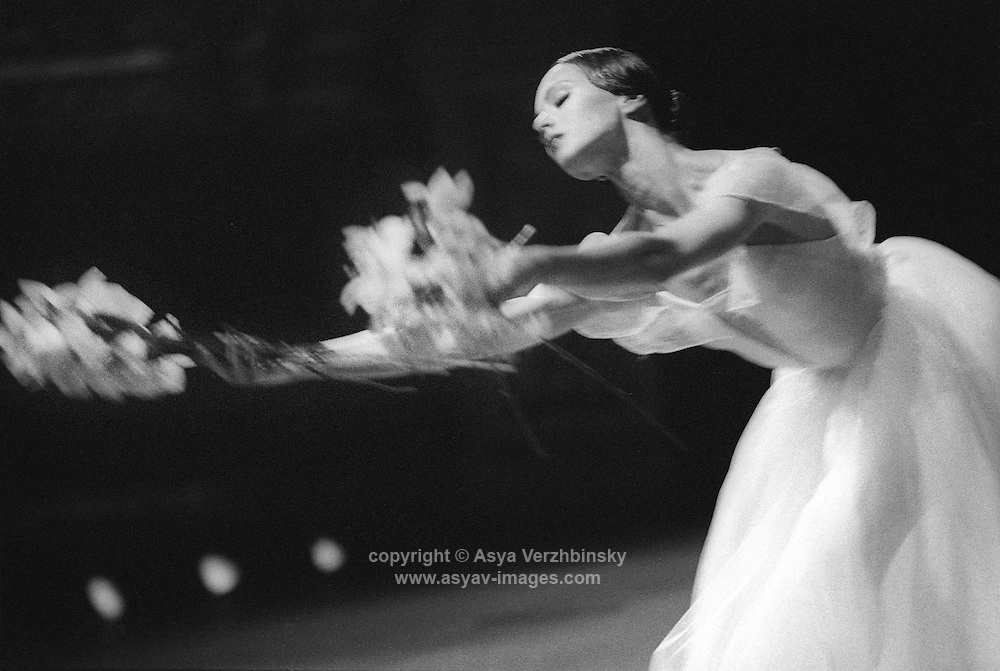 Diana Vinshneva in Act II of Giselle. Kirov Ballet, at the Mariinsky Theatre, St. Petersburg, Russia. Music: Adolphe Adam.