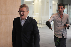 Tom Watson, Deputy Leader of the Labour Party and Shadow Culture Secretary leaves the  Labour Party  London HQ.<br /> <br /> Outside reporters posed questions which he answered before leaving. <br /> <br /> Richard Hancox | EEm 09072019