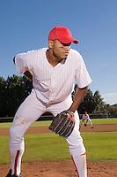 Pitcher Preparing to Throw