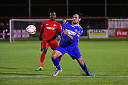 South Park Benjamin King (7) during the Ryman League - Div One South match between Carshalton Athletic and South Park FC at War Memorial Sports Ground, Carshalton, United Kingdom on 19 November 2016. Photo by Jon Bromley.