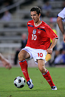 Stewart Downing<br /> England 2008/09 <br /> Andorra V England World Cup 2010 Qualifying Match <br /> at Monjiic Olympic Stadium in Barcelona 06/09/08<br /> Photo Robin Parker Fotosports International