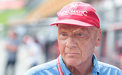 08.07.2017, Red Bull Ring, Spielberg, AUT, FIA, Formel 1, Grosser Preis von Österreich, Qualifying, im Bild Niki Lauda (AUT) Mercedes AMG Petronas F1 Team // Mercedes AMG F1 Non- Executive Chairman Niki Lauda (AUT) After the Qualifying of the Austrian FIA Formula One Grand Prix at the Red Bull Ring in Spielberg, Austria on 2017/07/08. EXPA Pictures © 2017, PhotoCredit: EXPA/ JFK