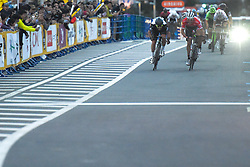 November 4, 2017 - Saitama, Japan - Mark Kavendish (Dimension Data) sprints to win the 58.9km Main Race, during the 5th edition of TDF Saitama Criterium 2017 ..On Saturday, 4 November 2017, in Saitama, Japan. (Credit Image: © Artur Widak/NurPhoto via ZUMA Press)