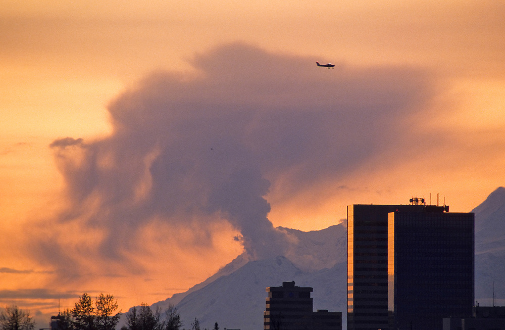 Mt. Spurr, the closest active volcano to Anchorage, last erupted in 1992, temporarily halting air traffic and depositing ash over southcentral Alaska.