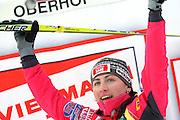 GEPA-02011034009 - OBERHOF,DEUTSCHLAND,02.JAN.10 - SKI NORDISCH, LANGLAUF - FIS Weltcup, Tour de Ski, 10km klassisch, Damen, Siegerehrung. Bild zeigt den Jubel von Justyna Kowalczyk (POL). Foto: GEPA pictures/ Markus Oberlaender.FOT. GEPA / WROFOTO.*** POLAND ONLY !!! ***
