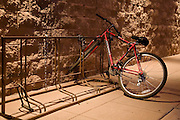 bike chained to bike rack in phoenix arizona
